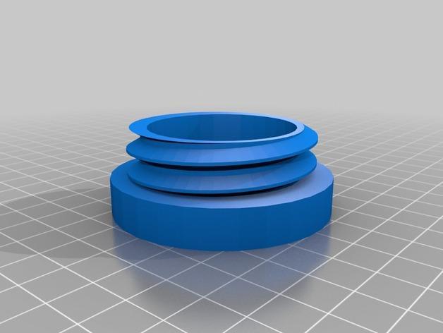 螺旋形收纳盒模型 3D模型  图5