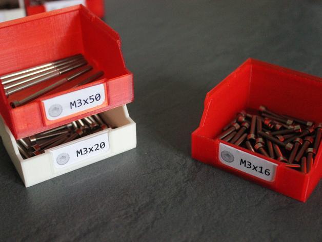 迷你螺丝螺帽盒模型 3D模型  图2