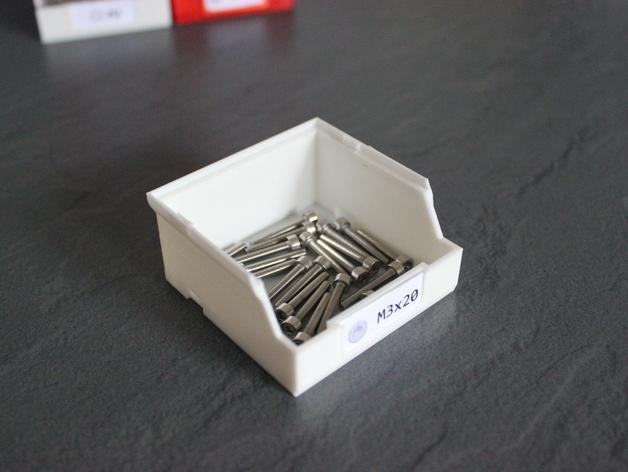 迷你螺丝螺帽盒模型 3D模型  图3