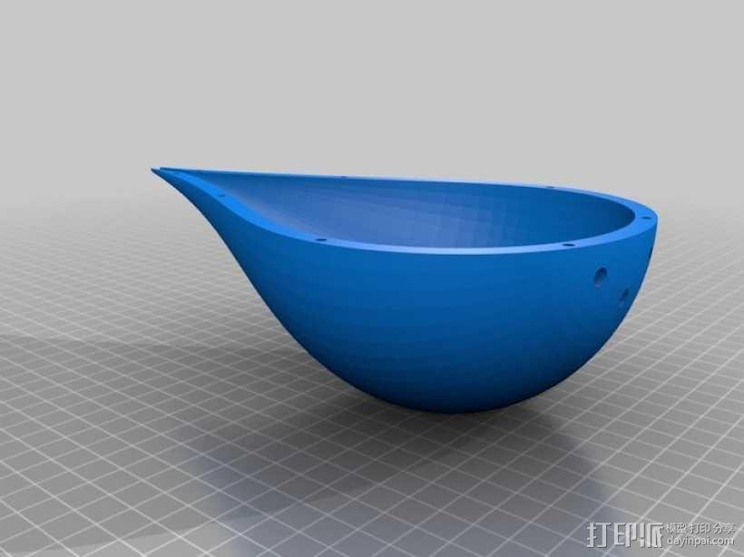 水滴形鸟笼模型 3D模型  图2
