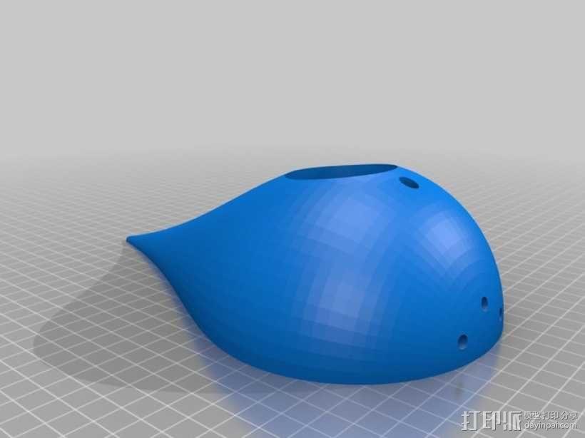 水滴形鸟笼模型 3D模型  图4