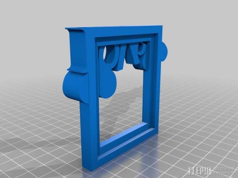迷你相框模型 3D模型  图2