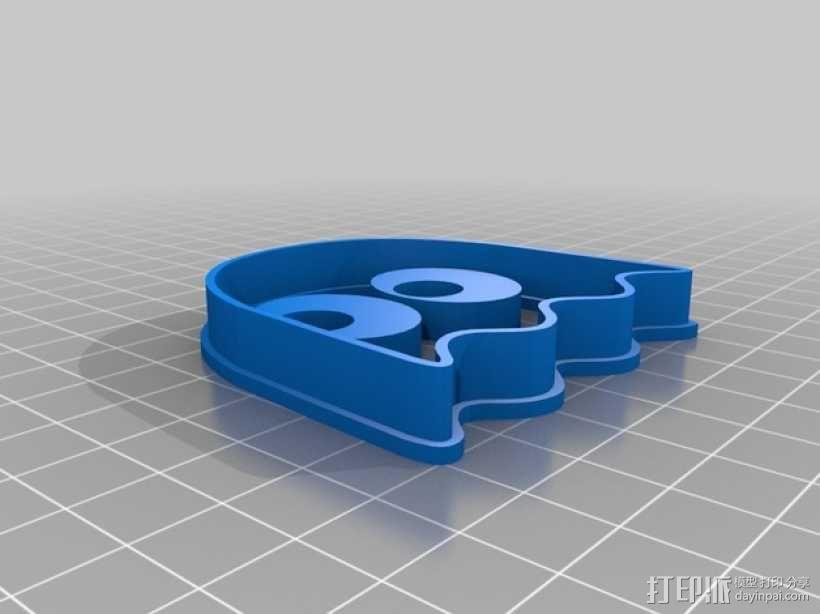 吃豆人饼干切割刀模型 3D模型  图2