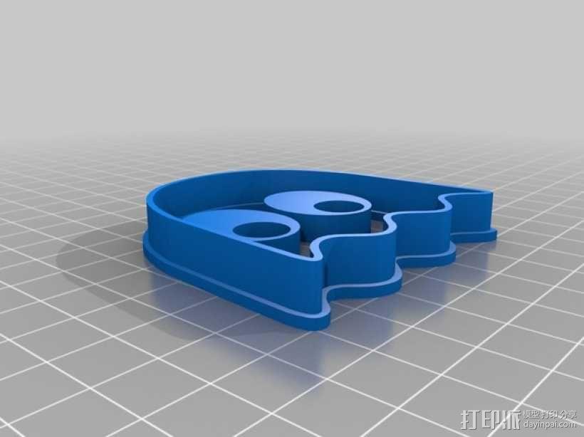 吃豆人饼干切割刀模型 3D模型  图3
