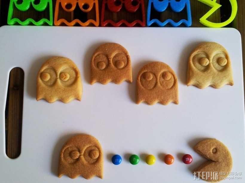 吃豆人饼干切割刀模型 3D模型  图1