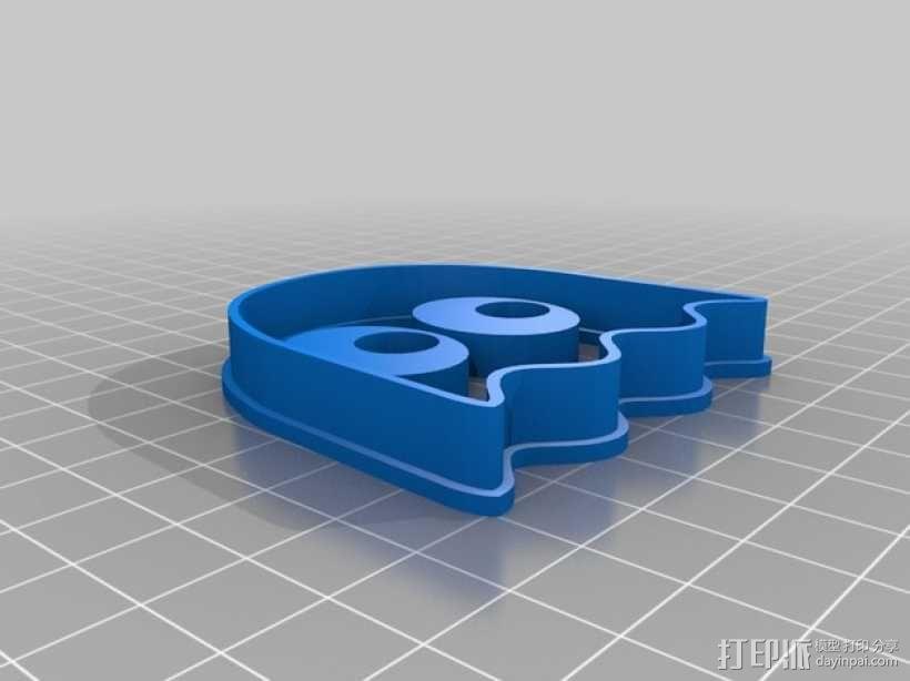 吃豆人饼干切割刀模型 3D模型  图4