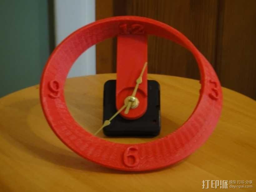 莫比乌斯带状钟面模型 3D模型  图1