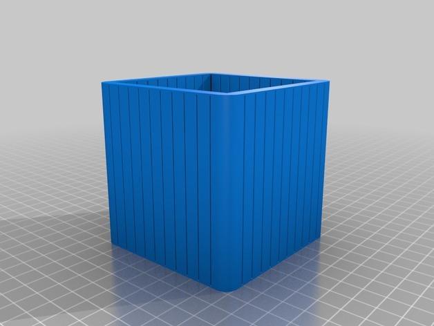 可定制化的瓦楞纸盒模型 3D模型  图2