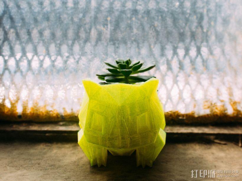 妙蛙种子花盆模型 3D模型  图1