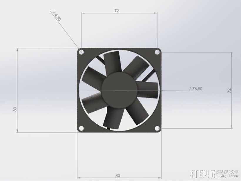 迷你捕蝇器模型 3D模型  图6