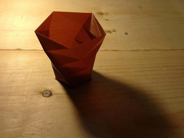 定制化多边形花盆模型 3D模型  图3