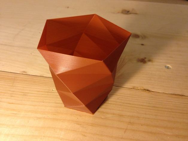 定制化多边形花盆模型 3D模型  图2