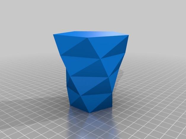 定制化多边形花盆模型 3D模型  图5