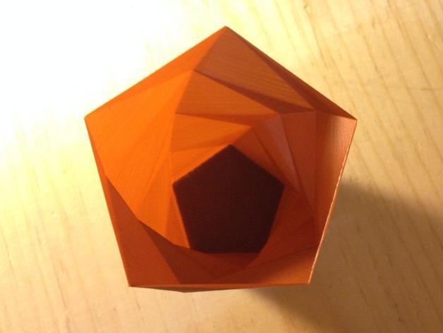 定制化多边形花盆模型 3D模型  图4