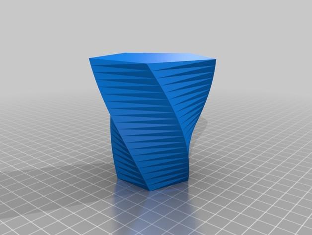 定制化多边形花盆模型 3D模型  图7