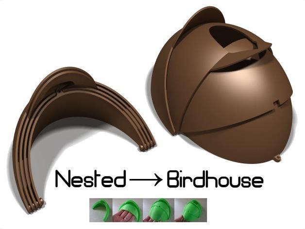 内嵌式鸟笼模型 3D模型  图8