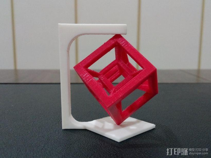 桌面摆设小玩意 -- 立方体 3D模型  图1