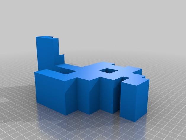 迷你实用卫生纸架模型 3D模型  图3