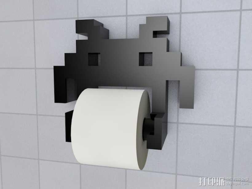 迷你实用卫生纸架模型 3D模型  图1