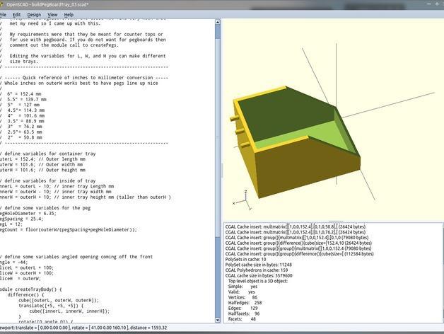 参数化钉板托盘模型 3D模型  图8