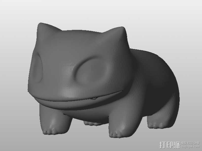 妙蛙种子花盆模型 3D模型  图3