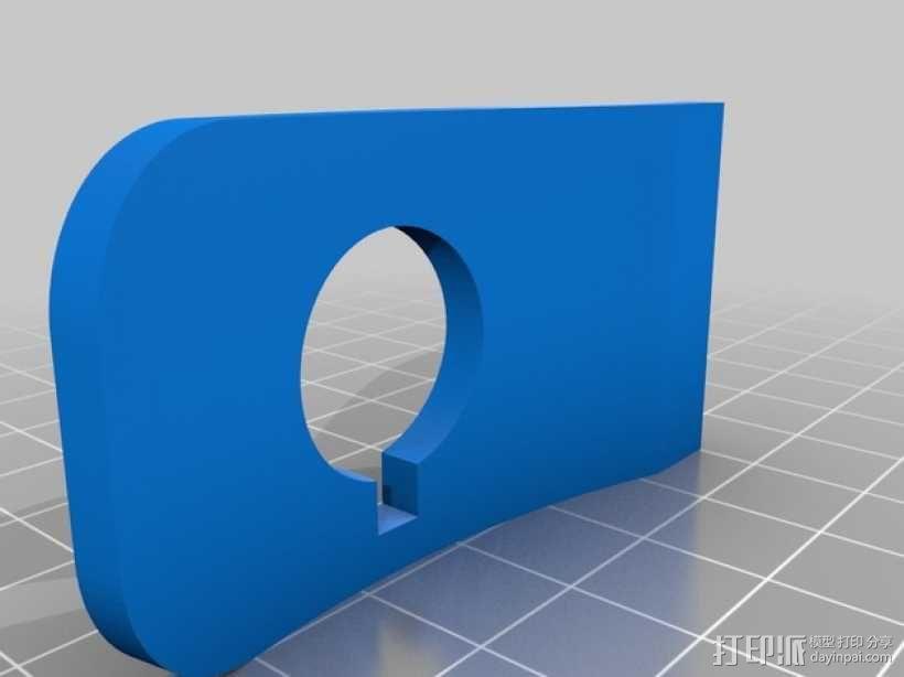 带密码锁的挂锁模型 3D模型  图3