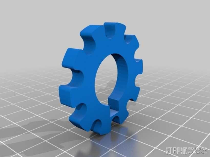 带密码锁的挂锁模型 3D模型  图5