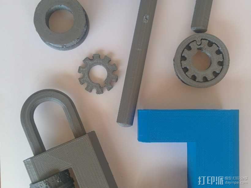 带密码锁的挂锁模型 3D模型  图7
