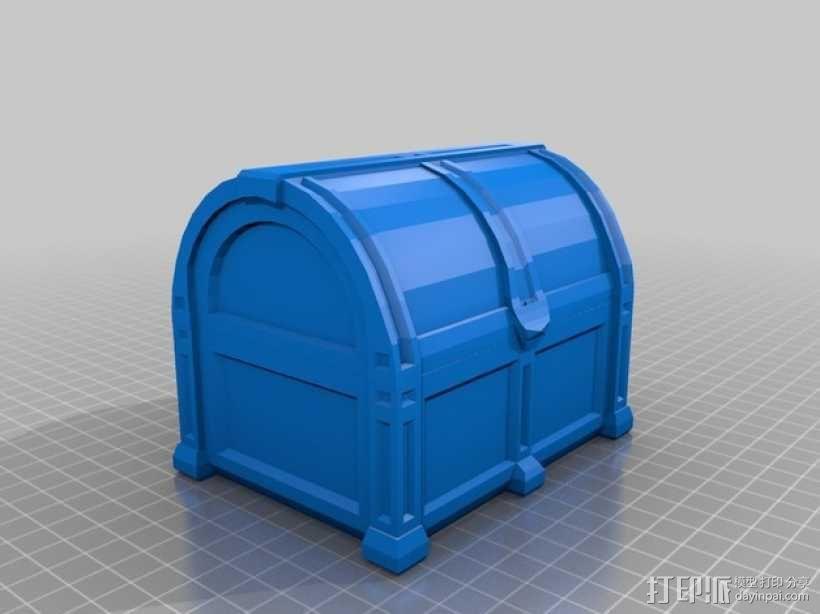 海盗宝藏箱模型 3D模型  图1