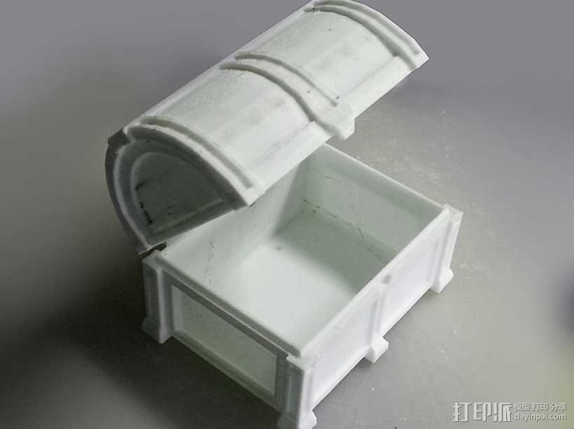 海盗宝藏箱模型 3D模型  图2