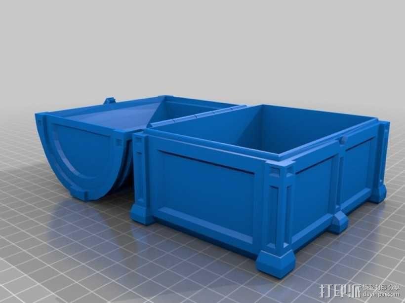 海盗宝藏箱模型 3D模型  图3