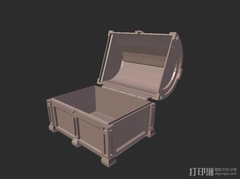 海盗宝藏箱模型 3D模型  图4