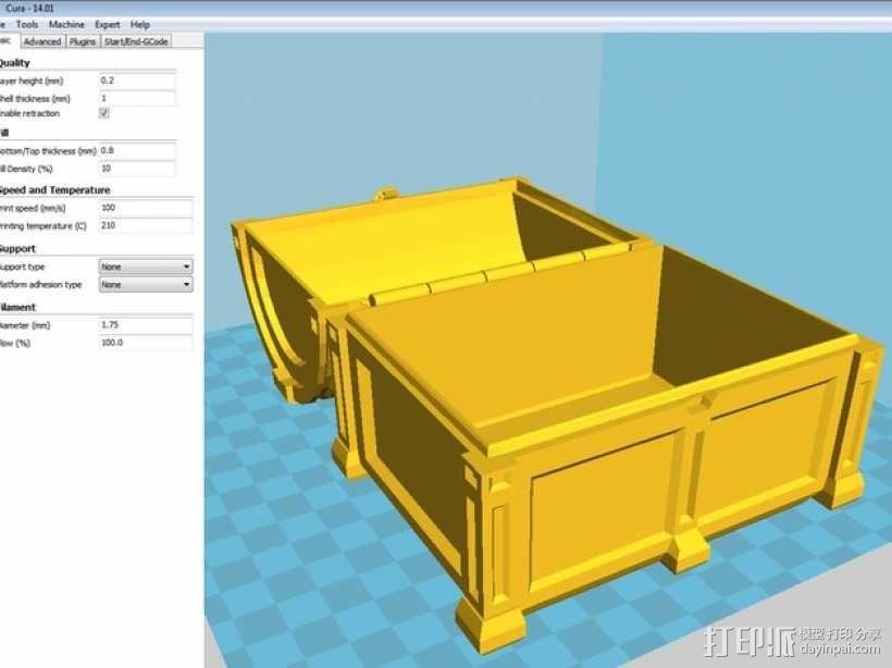 海盗宝藏箱模型 3D模型  图5