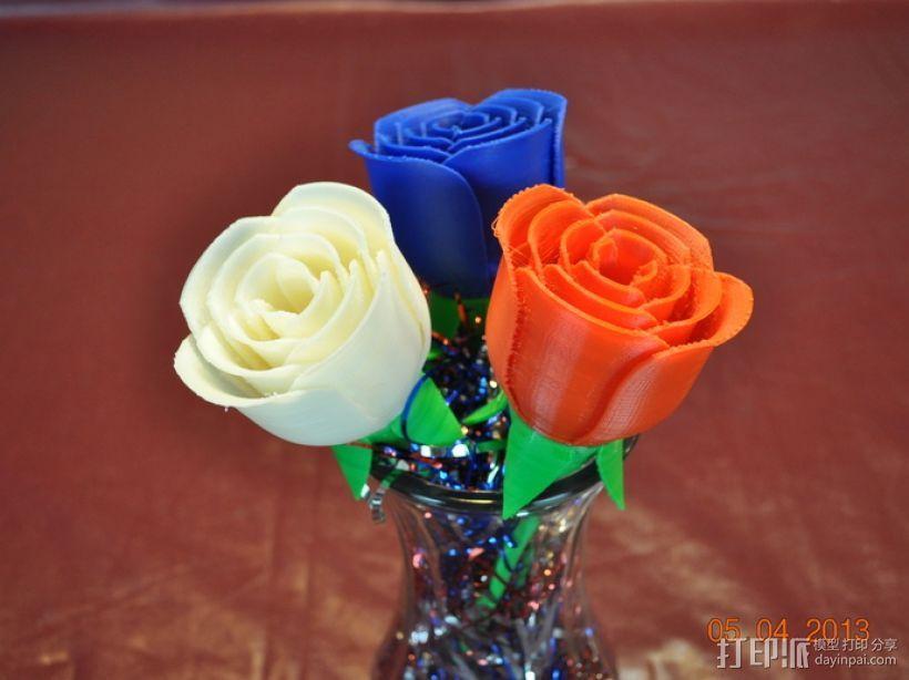 玫瑰花模型 3D模型  图1