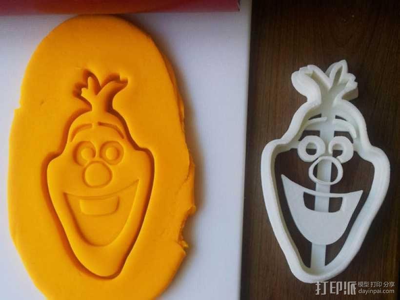 冰雪奇缘雪宝饼干模型切割刀 3D模型  图1