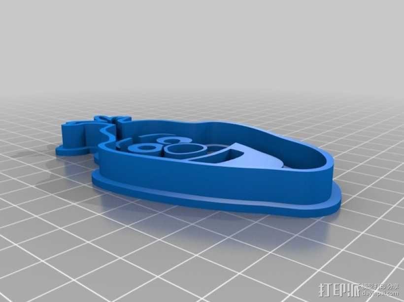 冰雪奇缘雪宝饼干模型切割刀 3D模型  图5