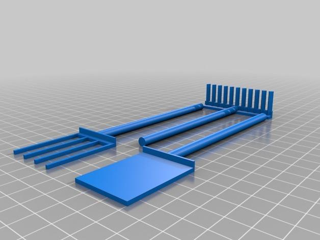 迷你多层花盆模型 3D模型  图3