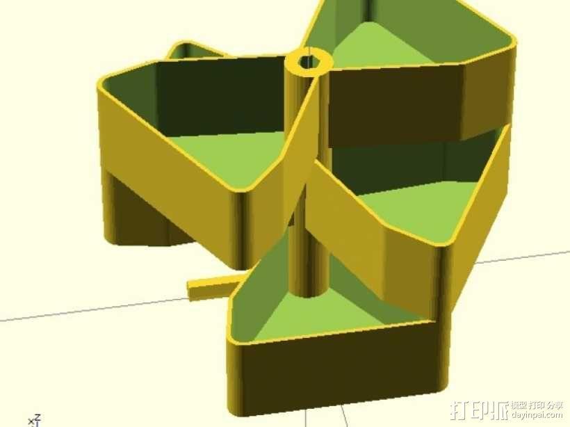 迷你多层花盆模型 3D模型  图7
