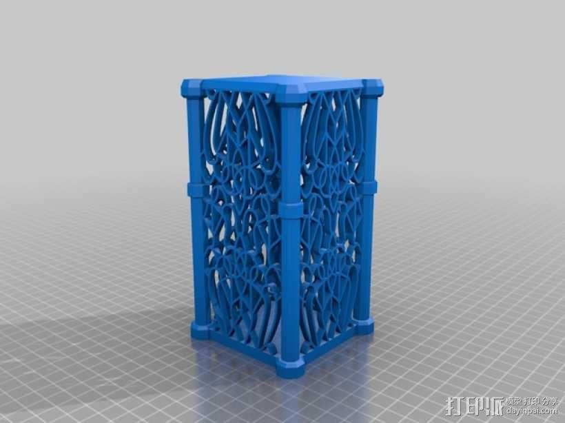 孔状装饰性的小筒模型 3D模型  图1
