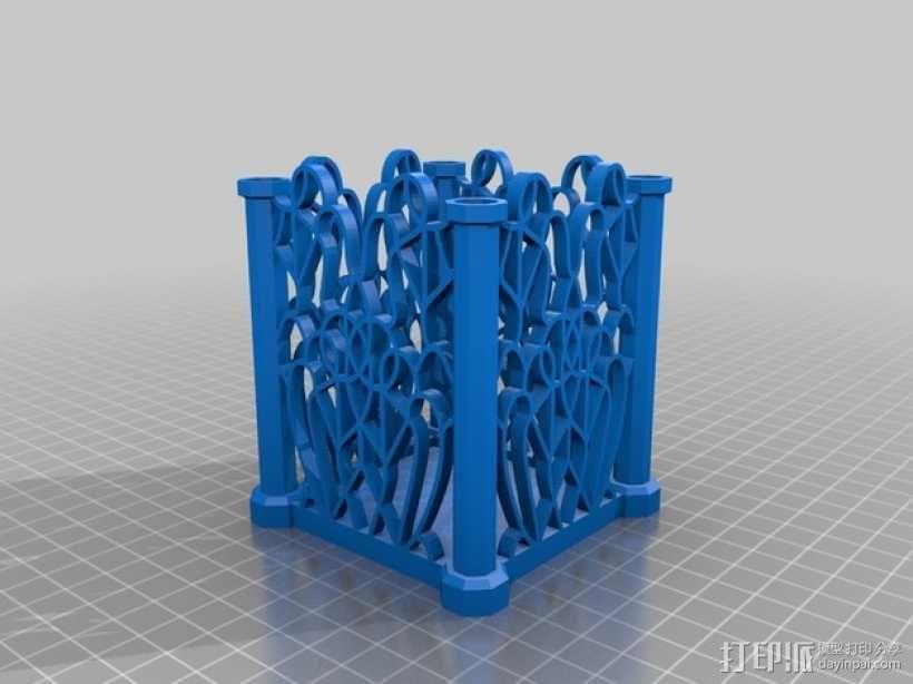 孔状装饰性的小筒模型 3D模型  图3
