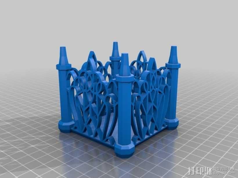 孔状装饰性的小筒模型 3D模型  图2