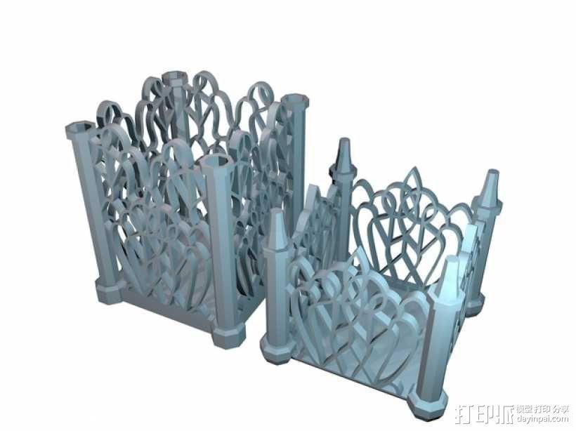 孔状装饰性的小筒模型 3D模型  图5