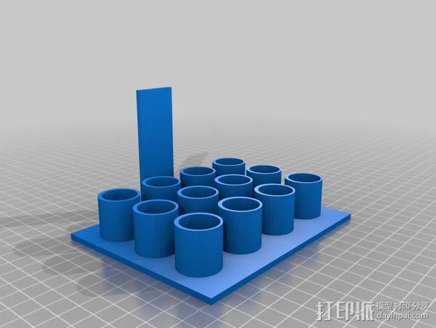 办公室白板笔架模型 3D模型  图3