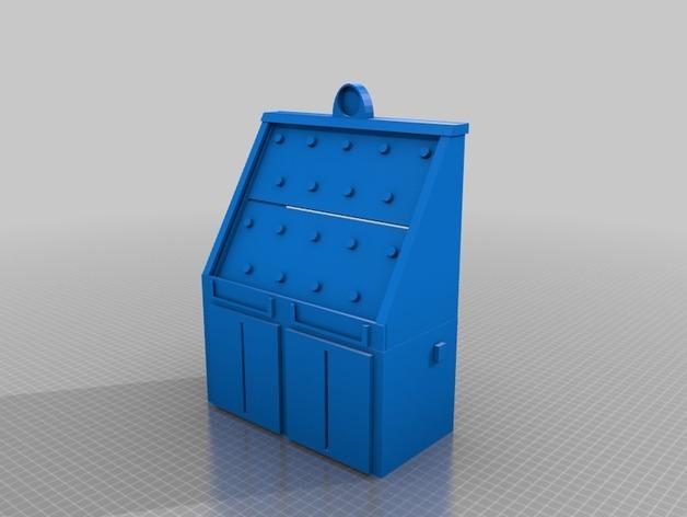 弹珠盘风格的存钱罐模型 3D模型  图2