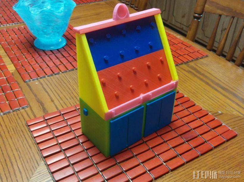 弹珠盘风格的存钱罐模型 3D模型  图1