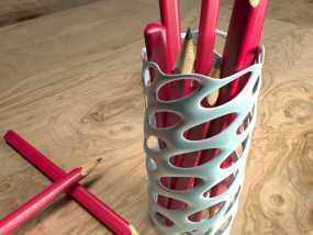 圆形镂空笔筒模型 3D模型