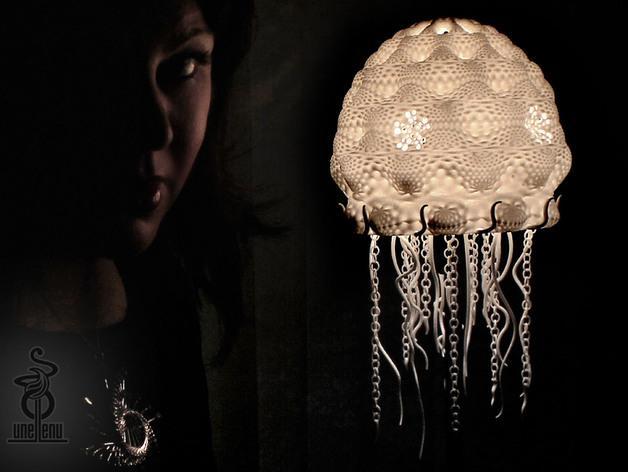 迷你水母灯罩模型 3D模型  图5