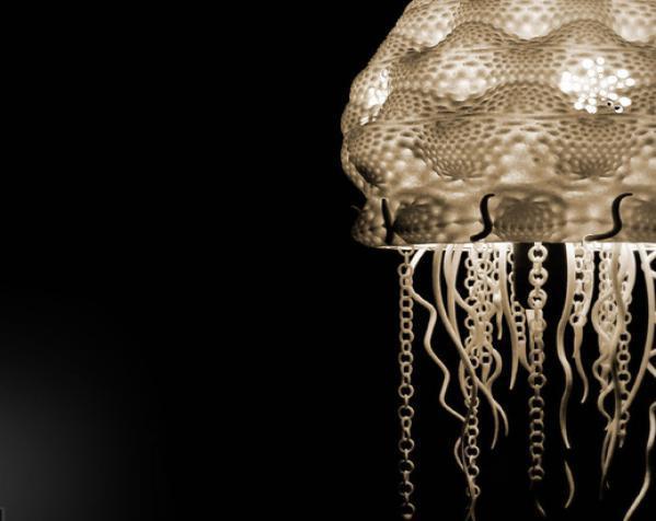迷你水母灯罩模型 3D模型  图8