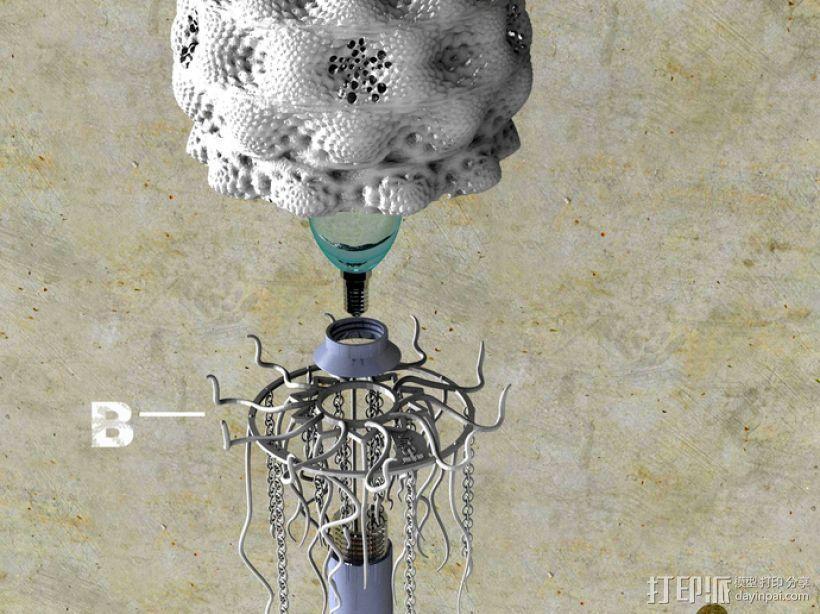 迷你水母灯罩模型 3D模型  图16