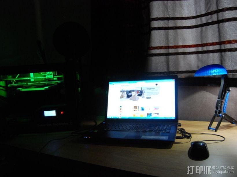 迷你桌面台灯模型 3D模型  图3
